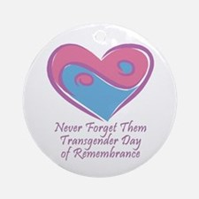 Transgender Day of Remembrance Ornament (Round)