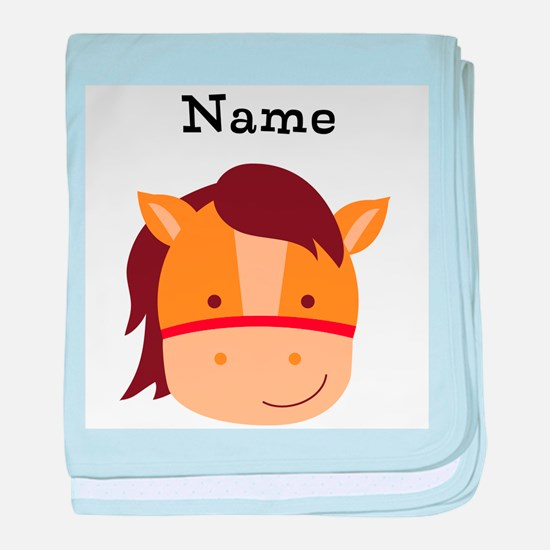 Personalized Horse baby blanket