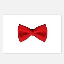 Bow Tie Red Postcards (Package of 8)