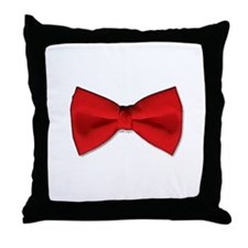 Bow Tie Red Throw Pillow