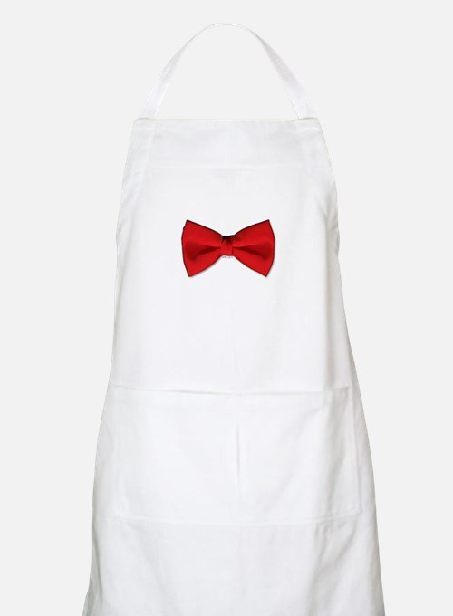Bow Tie Red Apron