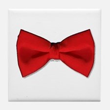Bow Tie Red Tile Coaster