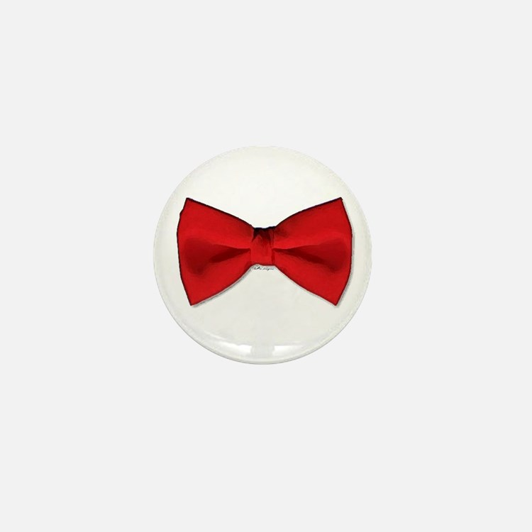 Bow Tie Red Mini Button