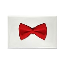 Bow Tie Red Rectangle Magnet