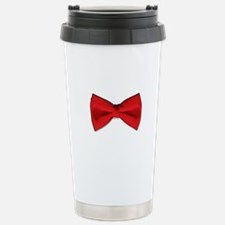 Bow Tie Red Stainless Steel Travel Mug