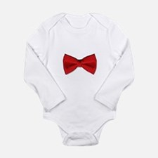Bow Tie Red Long Sleeve Infant Bodysuit