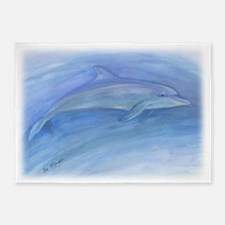 bottlenose dolphin tote 5'x7'Area Rug