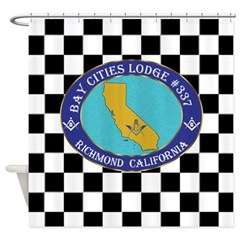 Bay Cities Lodge Shower Curtain