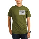 Organic Men's T-Shirt (dark) With Chalk's Seaplane