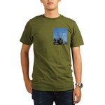 Organic Men's T-Shirt (dark) with shrimp boat