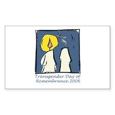 Transgender Day of Remembrance Sticker (Rectangula