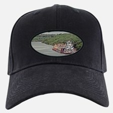 Baseball Hat with Barges And Towboat On Canal