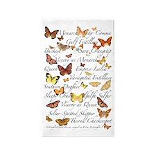 Beautiful Butterflies 3'x5' Area Rug