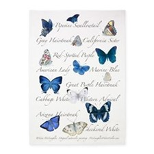 Beautiful Butterflies 5'x7'Area Rug