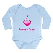 I Love/Heart Tasmanian Devils Long Sleeve Infant B