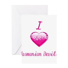 I Love/Heart Tasmanian Devils Greeting Card