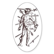 Wound Man Oval Decal