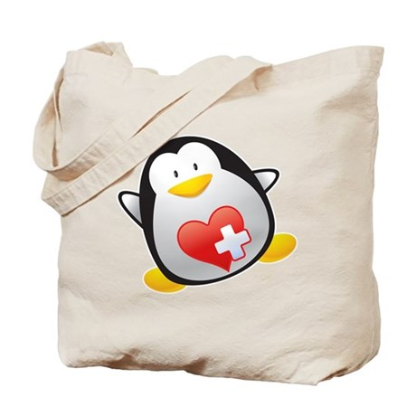 Penguin Nurse Tote Bag