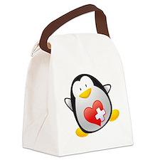 Penguin Nurse Canvas Lunch Bag