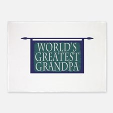 Worlds Greatest Grandpa 5'x7'Area Rug