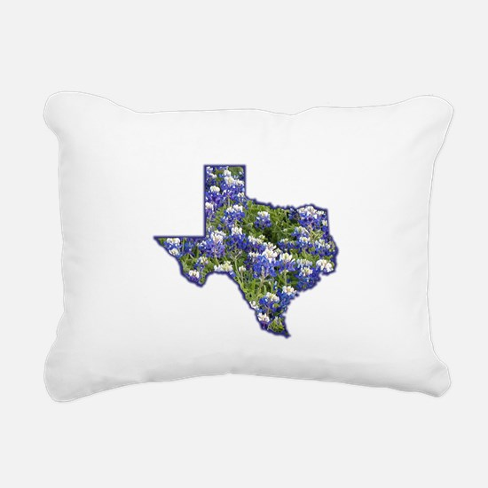 Texas Bluebonnets Rectangular Canvas Pillow