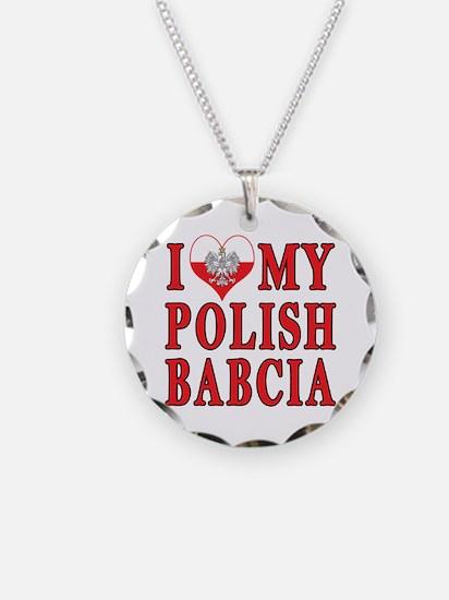 I Heart My Polish Babcia Necklace