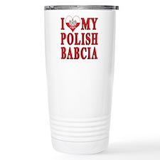 I Heart My Polish Babcia Travel Mug