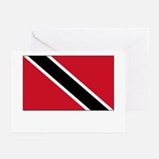 Trinidad & Tobago Flag Picture Greeting Cards (Pac