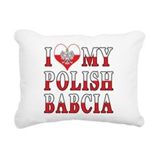 I Heart My Polish Babcia Flag Rectangular Canvas P