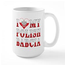 I Heart My Polish Babcia Flag Mug