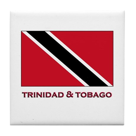 Trinidad & Tobago Flag Stuff Tile Coaster