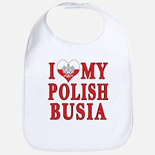 I Heart My Polish Busia Bib