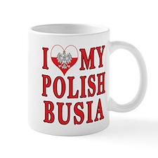 I Heart My Polish Busia Mug