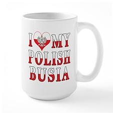 I Heart My Polish Busia Flag Mug