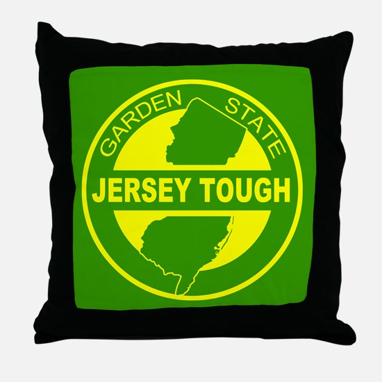 New jersey Strong Throw Pillow