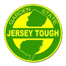 New jersey Strong Round Car Magnet