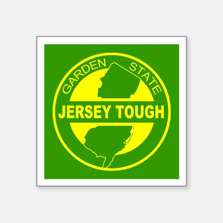 """New jersey Strong Square Sticker 3"""" x 3"""""""