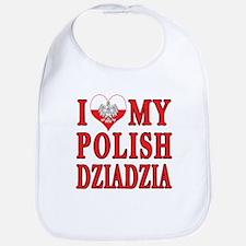 I Heart My Polish Dziadzia Bib