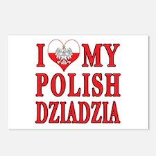 I Heart My Polish Dziadzia Postcards (Package of 8