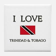 I Love Trinidad & Tobago Tile Coaster