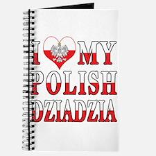 I Heart My Polish Dziadzia Flag Journal
