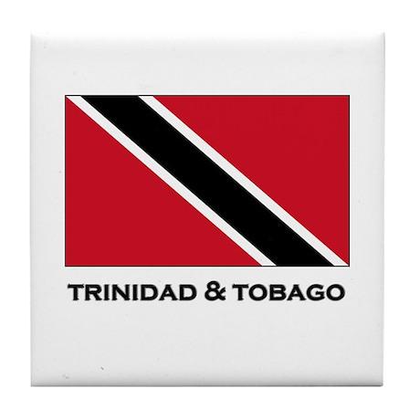 Trinidad & Tobago Flag Merchandise Tile Coaster