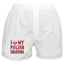 I Heart My Polish Grandma Boxer Shorts