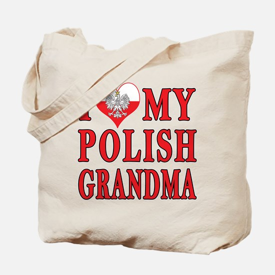 I Heart My Polish Grandma Tote Bag