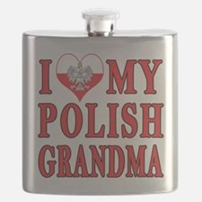 I Heart My Polish Grandma Flask