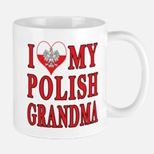 I Heart My Polish Grandma Mug