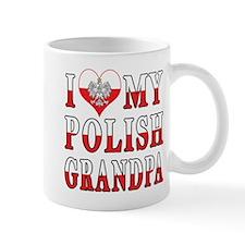 I Heart My Polish Grandpa Flag Mug