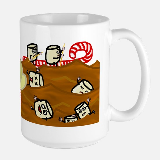 Marshmallows Drowning in Hot Chocolate Large Mug