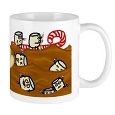 Marshmallows Drowning in Hot Chocolate Mug