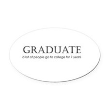 2-Graduate2.png Oval Car Magnet